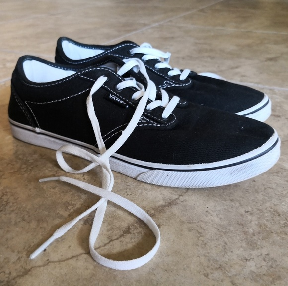 51aa9716634a Vans Authentic Black and White Canvas Skate Shoes. Vans.  M_5d058204adb58d9203db9768. M_5d05821ac953d831111730da.  M_5d05822c7f617f6f855c8901